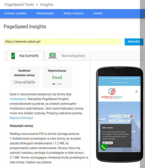 PageSpeed Insights - Google Speed Update